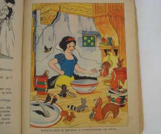 VINTАGE 1938 FRENCH WALT DISNEY EDITION OF SNOW WHITE TALE BOOK