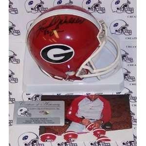 Herschel Walker Autographed/Hand Signed Georgia Bulldogs Mini Helmet