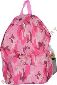 Full Size Backpack Camo Camouflage Pink Embroidery Opt.