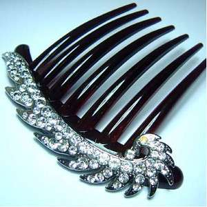 1 pc rhinestone crystal French twist hair comb wedding