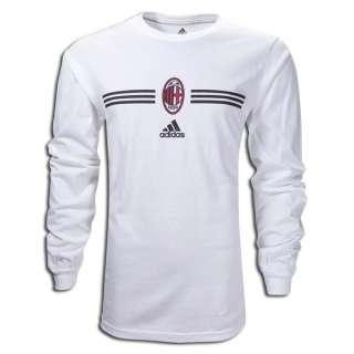 adidas AC MILAN Big BADGE SOCCER 2011 LS Fan Shirt WHT