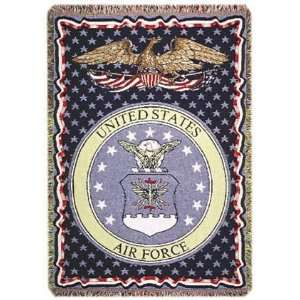 U.S. Air Force Insignia 3 Layer Afghan Throw Blanket 50 x