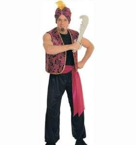 Adult SULTAN Costume Arab Prince Aladdin Snake Charmer