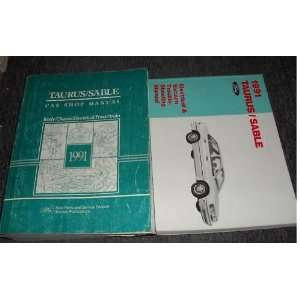 1991 Ford Taurus Mercury Sable Service Shop Manual Set