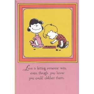Greeting Card Valentines Day Peanuts Love Is Walking Hand in Hand