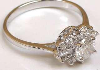 VS Round Diamond 14k White Gold Solitaire Engagement Ring NR