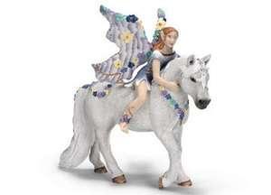 NIB Schleich World of Fantasy Bayala Elfen Oleana Fairy and Horse