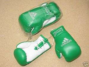 GREEN ADIDAS MINI BOXING GLOVES NEW and SEALED RARE