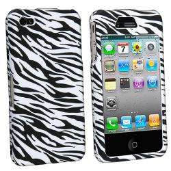White/ Black Zebra Case for Apple iPhone 4
