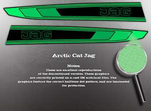 ARCTIC CAT 1980 JAG HOOD GRAPHIC DECAL SET