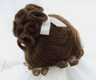 Sz. Size 11.12 Upsweep Curls Auburn Doll Wig Baby, Reborn OOAK BJD