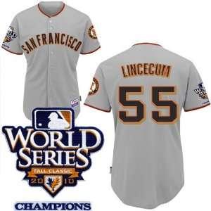 San Francisco Giants #55 Lincecum 2011 MLB Authentic Grey Jerseys Cool