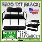 TXT Golf Cart Rear Flip Back Folding Seat Kit Polyethylene Cargo Bed