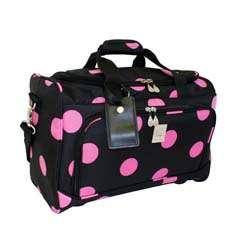 Chan Black/ Pink Dots 18 Inch City Carry On Duffel Bag