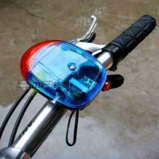 New Cycling Bike Bicycle 5 LED Warning Light Electronic Horn Bell