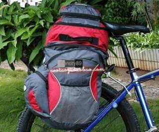 65L Cycling Bicycle Bag Bike rear seat bag pannier + Backpack