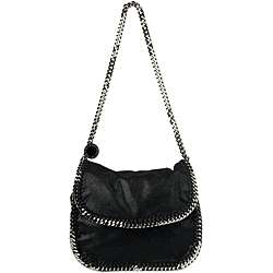 Stella McCartney Black Leather Chain Detail Cross body Bag