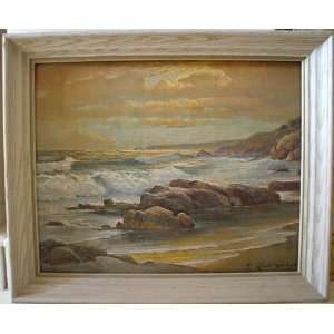Robert Wood Sunset Shore Painting: Home & Kitchen