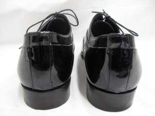 Dolce & Gabbana Black Patent Leather Lace Up Dress Shoes 8.5