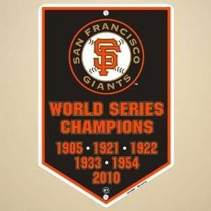 San Francisco Giants 2010 World Series Champions Metal