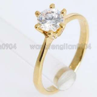 1ct Clear Crystal 18k Gold Plated New Arrival Fashion Ring Free