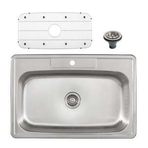 Drop In 33 Stainless Steel Single Bowl Kitchen Sink