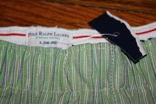 Mens L * Polo Ralph Lauren boxer shorts * underwear * striped