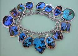 Vintage Sterling Charm Bracelet Butterfly Wing Wings Charms
