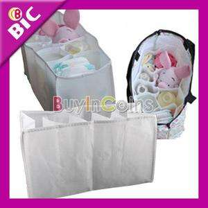 White Large Travel Nappy Bag For Storage Baby Diaper Nappies Clothes