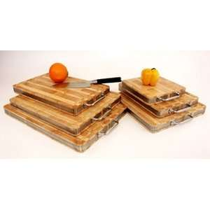 Handle Steel Banded End Grain Cutting Board