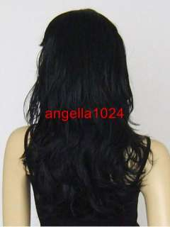 20 long big spiral curl black cosplay wigs 1H8