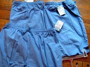 NWT NEW LOT 3 SCRUBS PANT BLUE XXXL 3X 3XL J.I.J nurse
