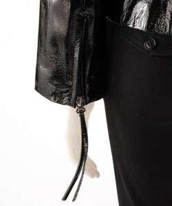 Via Spiga Womens Patent Leather Jacket