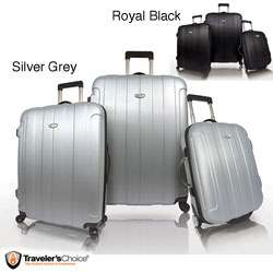 Travelers Choice Rome 3 piece Spinner Hardside Luggage Set