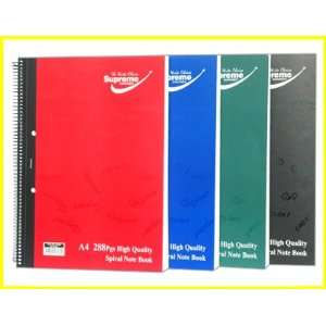 Supreme A4 Spiral Note Book   288 Pages (Boys)   Red