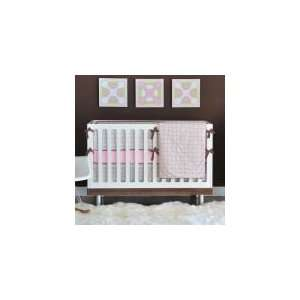 Geox Pink and Green 4 Piece Crib Bedding Set   Baby Girl Bedding: Baby