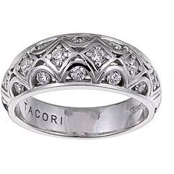 Tacori IV Sterling Silver Cubic Zirconia Filigree Ring