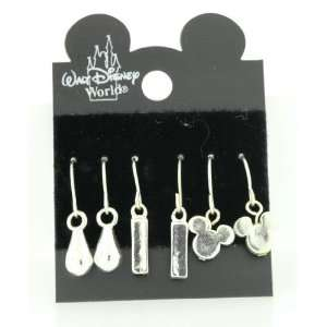 MICKEY MOUSE HEAD PIERCED EARRINGS set of 3 pair Everything Else