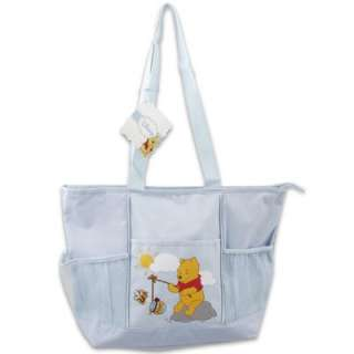 NEW LARGE WINNIE THE POOH DIAPER BAG WITH PRINT, BABY SHOWER