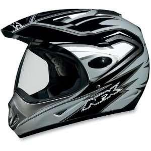 AFX FX 37 DUAL SPORT MOTORCYCLE HELMET SILVER MULTI XL