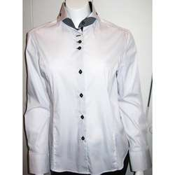 Dolce Guava Womens White Cotton Tailored Shirt