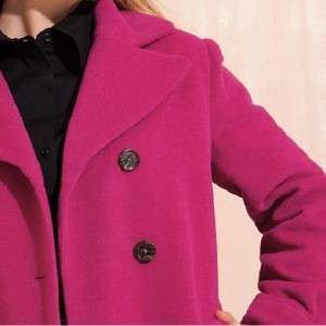 ladies womens Winter wool blend peacoat wool jacket plus size 18W 20W