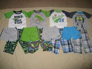 Carters Baby Boy 3 Pc Pajama Set Top Pants Shorts Size 12 18 M Months