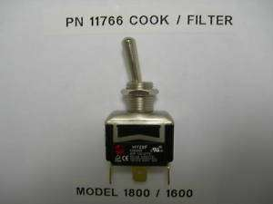 FITS BROASTER PRESSURE FRYER, TOGGLE SWITCH MODEL 1800/1600/2400
