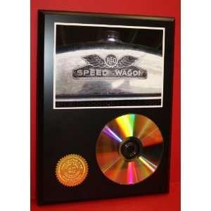 REO Speedwagon 24kt Gold Art CD Disc Display   Musician Artwork