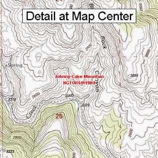 USGS Topographic Quadrangle Map   Johnny Cake Mountain