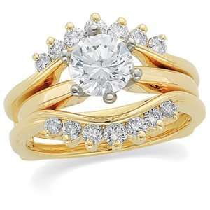 1/2 CT TW 14K Yellow Gold Diamond Ring Guard Jewelry