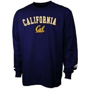 Cal Golden Bears Navy Blue Arch Logo Long Sleeve T shirt