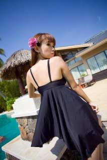 Trendy Cute Floral 2 Piece Halter Tankini Set Bathing Suit Swimsuit