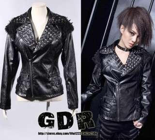 PUNK VISUAL KEI BLK GOTH 21126 MOTORCYCLE Coat JACKET *STUB LOVER M XL